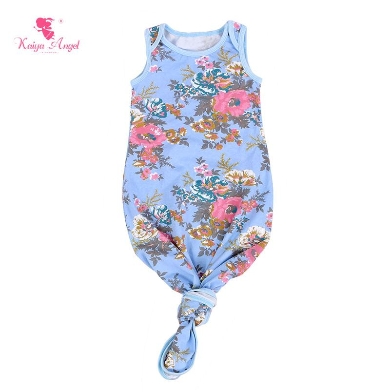 Kaiya Angel Baby Sleep Gown Sleeveless Infant Sleep Gowns Solid ...