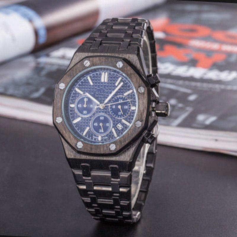 All Gadgets Work Fashion Business Men's Watch Stainless Steel Quartz Watch Stopwatch Luxury Watches Top Men's Brands relojes Best Gifts