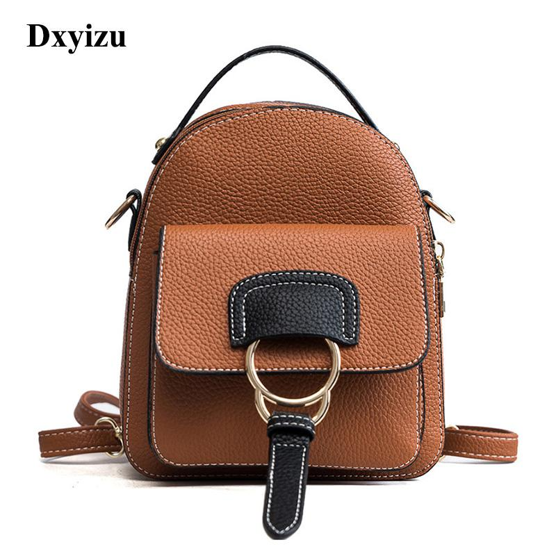 7849a1e161 Women Leather Backpack Children Backpack Mini Backpack Women Cute Back Pack  Backpacks For Teenage Girls Small Shoulder Bags Hiking Backpack Swiss Gear  ...