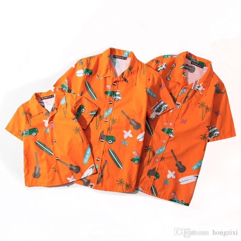 Acheter Chemises Hawaii Plage Été Coton Manches Courtes Noix De Coco  Guitare Guitare Requin Imprimer Floride 5XL Grande Chemise Décontractée  Famille De ... 29fd264f770