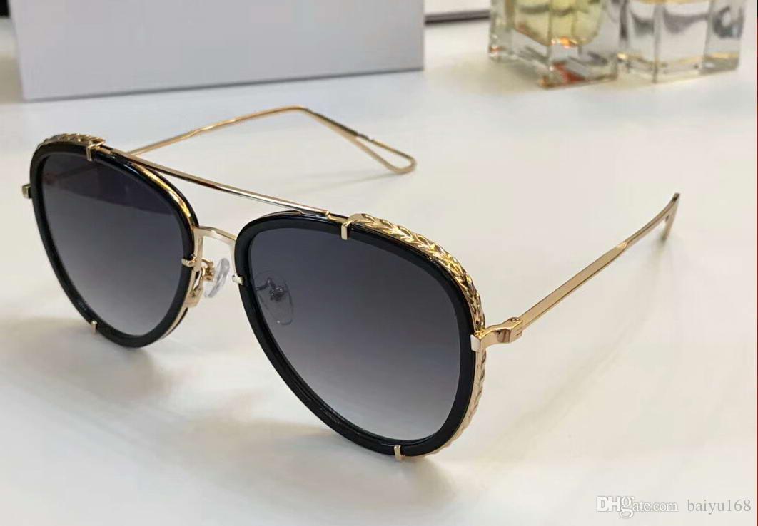 f605e36541 Design 138 Gold Black Pilot Sunglasses Grey Gradient Women Fashion ...