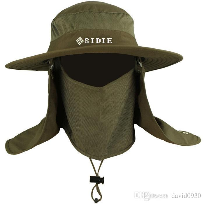 Outdoor Men Women Large Round Brim Sun Block Quick Drying Fishing ... cf5cb5e889b
