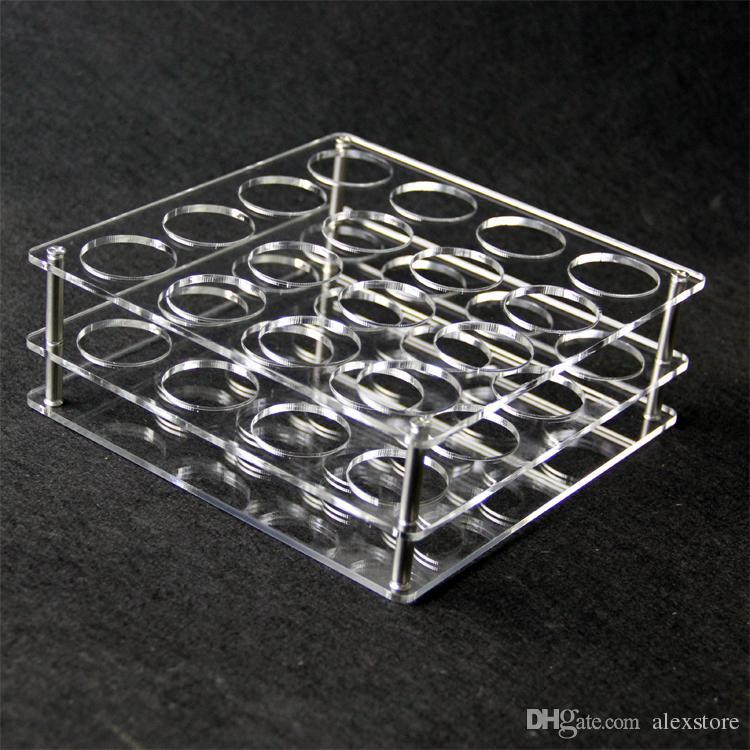 Display de acrílico transparente suporte de prateleira vape rack show case para ou 60 ml garrafas de plástico e líquido eJuice DHL