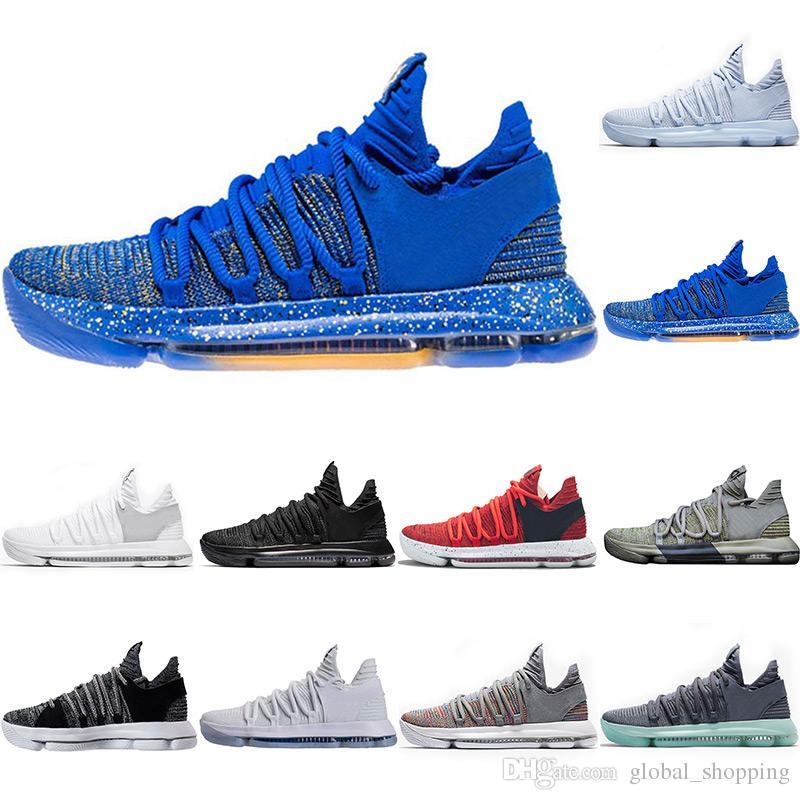 531467716cfa8 Acquista Nuove Scarpe Da Basket Kdx 10 Multicolore Bhm Triple Bianco Nero  Sneakers Firmate Da Uomo Anniversary Oreo Scarpe Sportive Da Ginnastica  Taglia 8 ...