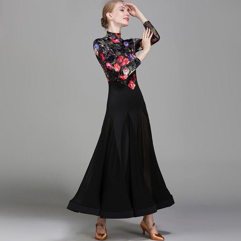 2018 balo salonu dans elbiseler standart balo salonu balo salonu dans vals elbise tango dancewear için aydınlık kostümleri elbiseler