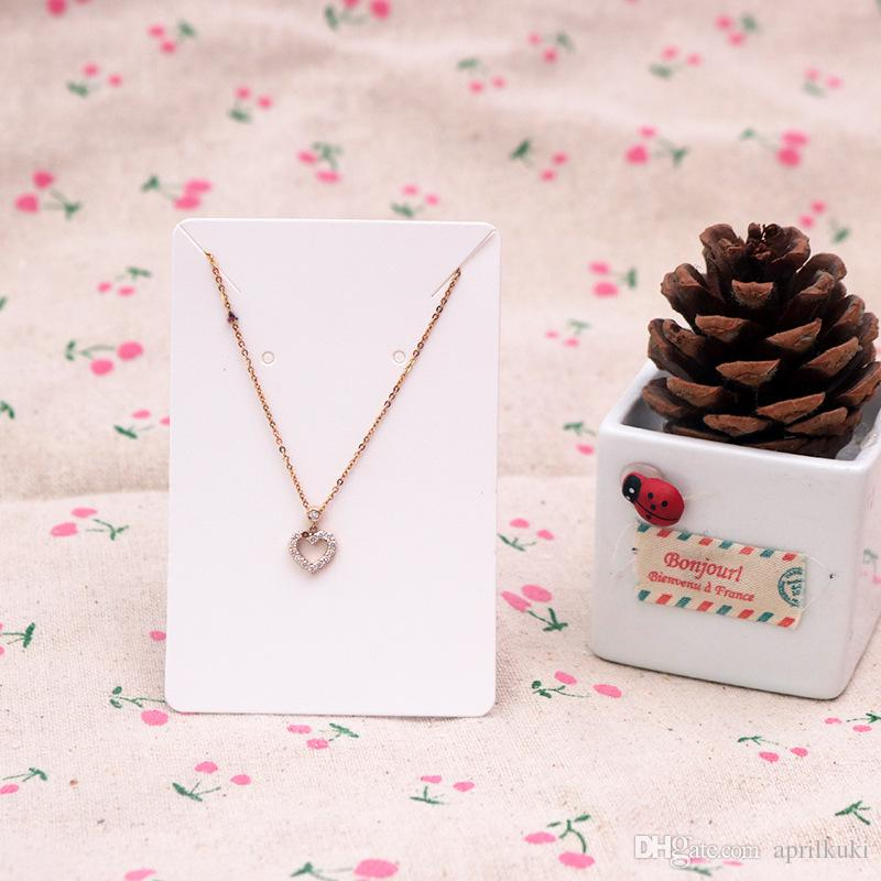 يمكن 6 * 9cm / بطاقة عرض مجوهرات سعر بطاقة كرافت ورقة حلق حامل بطاقات قلادة شعار مخصص