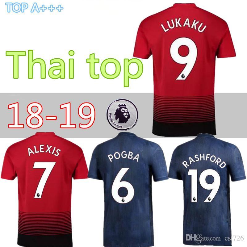 1a319249a Thai Home Away Man Utd Premier League ALEXIS LUKAKU Soccer Jersey ...
