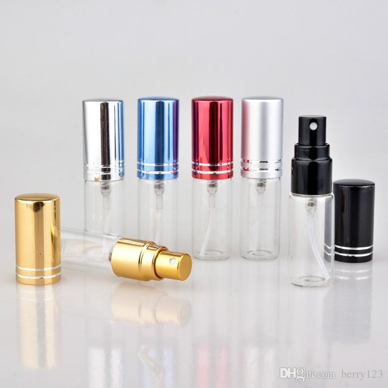 향수에 대 한 / 5 ml Parfum Verstuiver 여행 스프레이 병 알루미늄 펌프와 휴대용 빈 화장품 용기