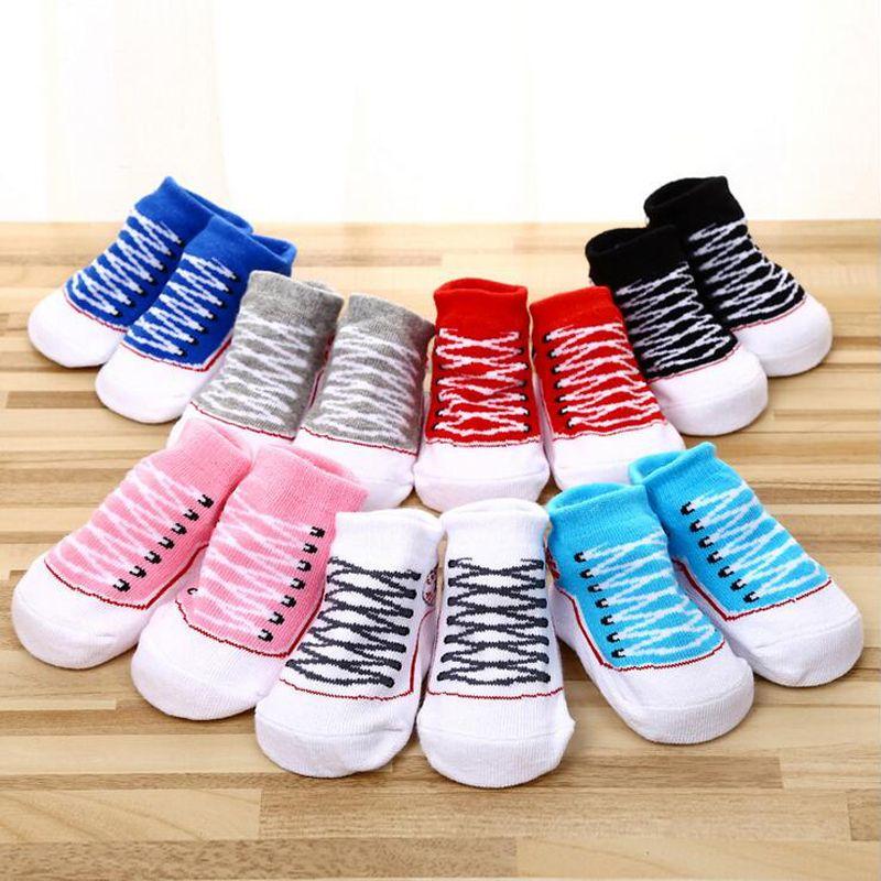 Crib Shoes Friendly Leg Warm Cotton Crib Shoe Baby Boy Girl Anti-slip Dot Print Socks Newborn Slipper Shoes Boots 0-12 Months