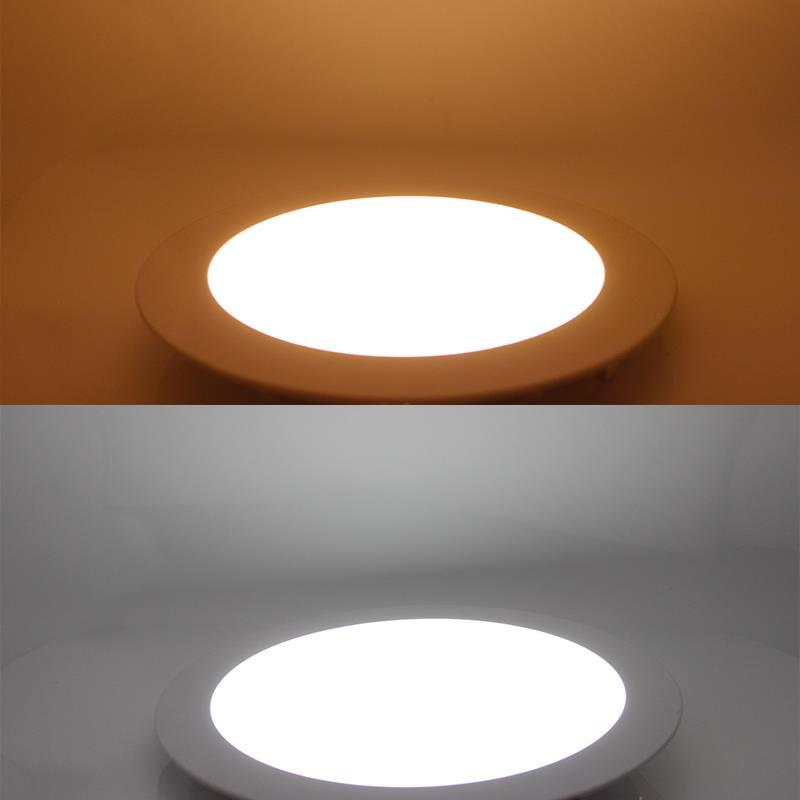 Lampada da pannello a LED AC 220V 3W 4W 6W 9W 12W 15W 18W Faretto a led tondo Faretto ad alta luminosità