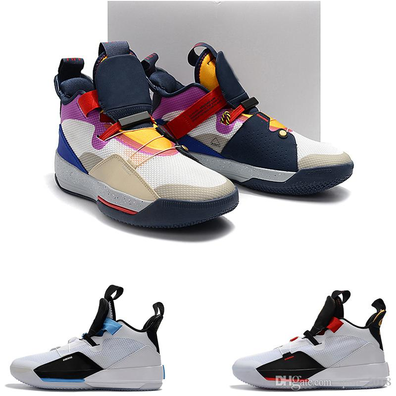 new styles 83868 4157d 2019 Wholesale New ZOOM Jump Man 33 Future Origins Tech Pac Basketball  Shoes 33s For Men Michigan PE OUTDOOR Trainers Jogging Sneakers Free Ship  From ...