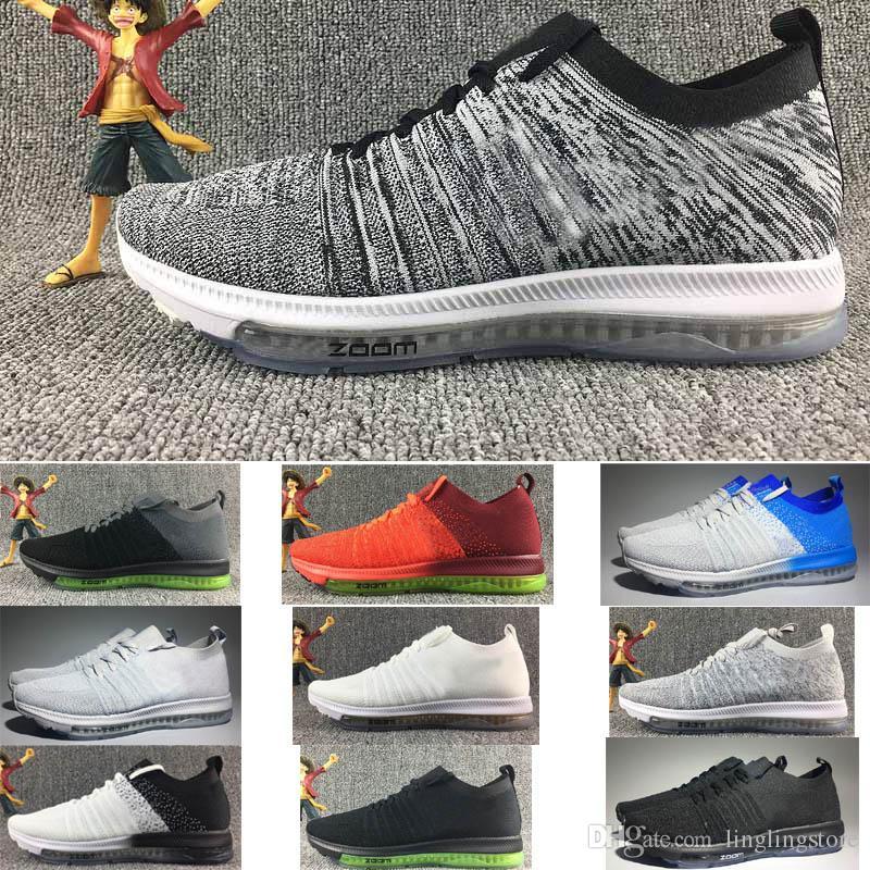 sneakers for cheap d99a2 eb996 Acheter Nike 2018 Nouveau Arrivel ZOOM Tout Dehors En Tricot Marque Nom  Racer Hommes Femmes Lover Running Chaussette Air Coussin Sneaker Sport  Chaussures ...