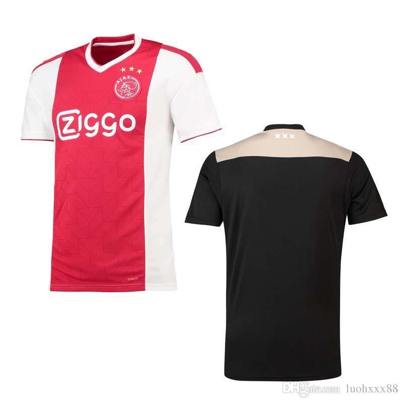 30c697a0a Ajax Home Soccer Jersey 18 19 Amsterdam Away Balck Soccer Shirt 2019 ...
