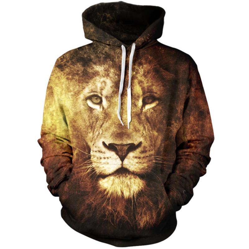 Dimensional Design Lion Hoodie Animal Prints 3d Hoodie 3e9c22b92
