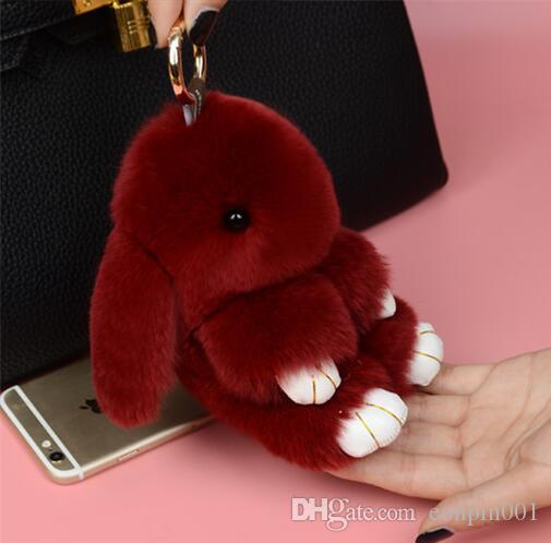 low price keychain cute rabbit pendant for bag keys car bag accessories made in China