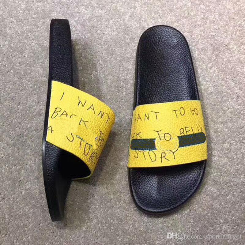 67b29dc9b87c20 Without Box Cheap Men Women Sandals Designer Shoes Luxury Slide Summer  Fashion Wide Flat Slippery Sandals Slipper Flip Flop Size 35 46 Reef Sandals  Gold ...