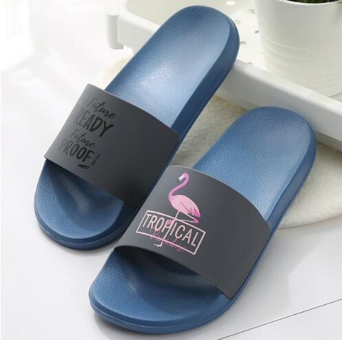 e127ae59511fb9 Flamingo Slippers Women Summer Beach Slides Ladies 2018 Casual Flats Sweet  Flip Flops Sandals Lovely Women Shoes Men Boots Slipper Boots From ...