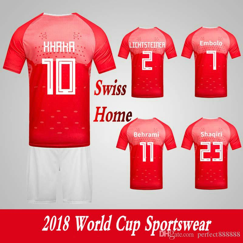 reputable site 53c46 d30e6 Men s Clothing Tracksuits Switzerland Swiss National Team Home Football  Sport Suits 2018 World Cup Soccer Uniform Clothes Shorts
