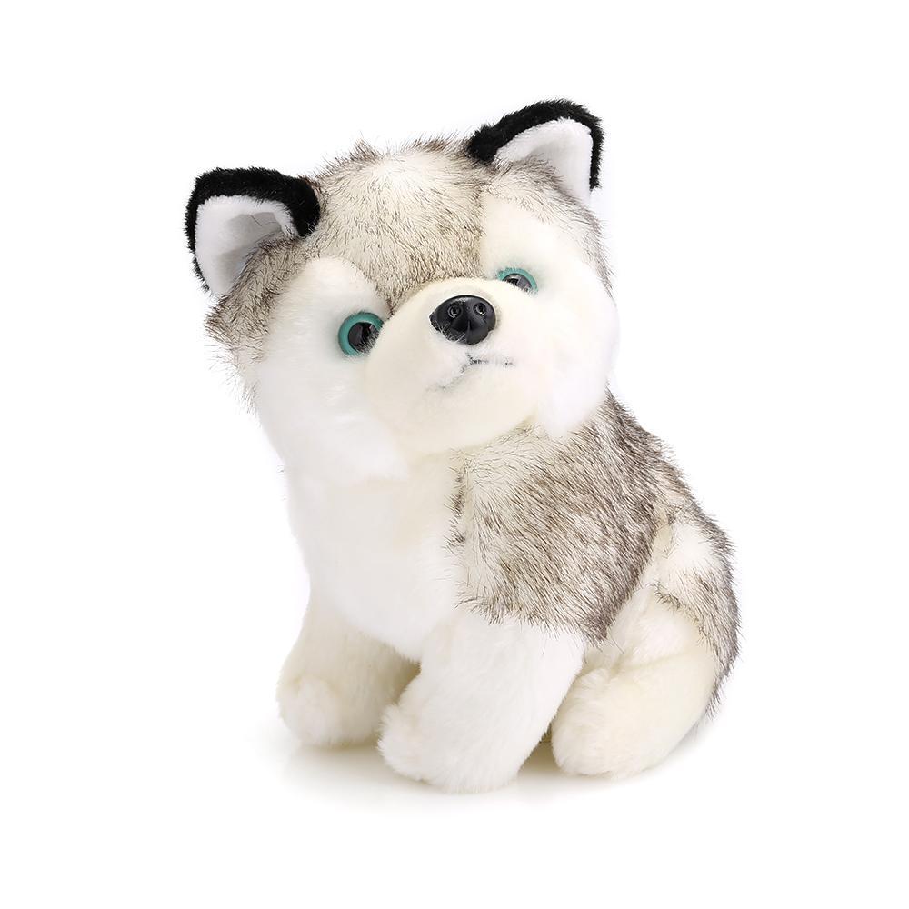 2018 250mm Baby Stuffed Cute Husky Plush Doll Toy Birthday Christmas ...