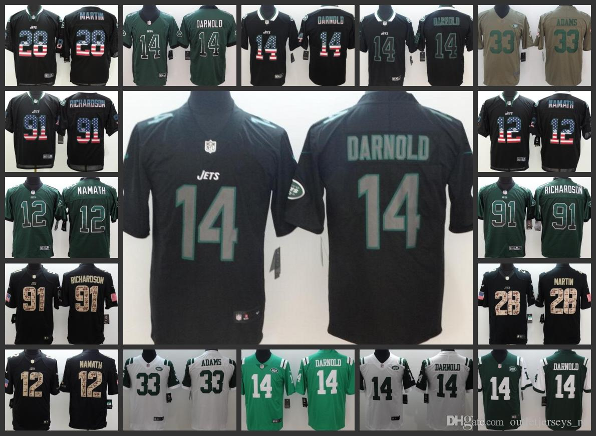 New York Jets Men Jersey  12 Joe Namath 14 Sam Darnold 33 Jamal Adams 91  Sheldon Richardson Limited Women Youth Football Jerseys Online with   27.22 Piece on ... 9a0627227