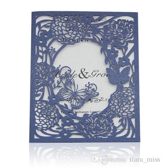 Acheter Impression Gratuite Cartes Dinvitation Personnalises Invitation De Mariage Fleurs Creuses Cadeaux Dcoupes Au