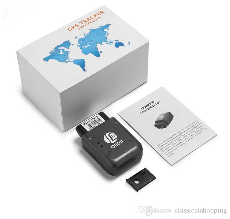 OBD II GPS Tracker tempo reale Car Vehicle Tracking camion GSM GPRS antifurto allarme di vibrazione Mini dispositivo