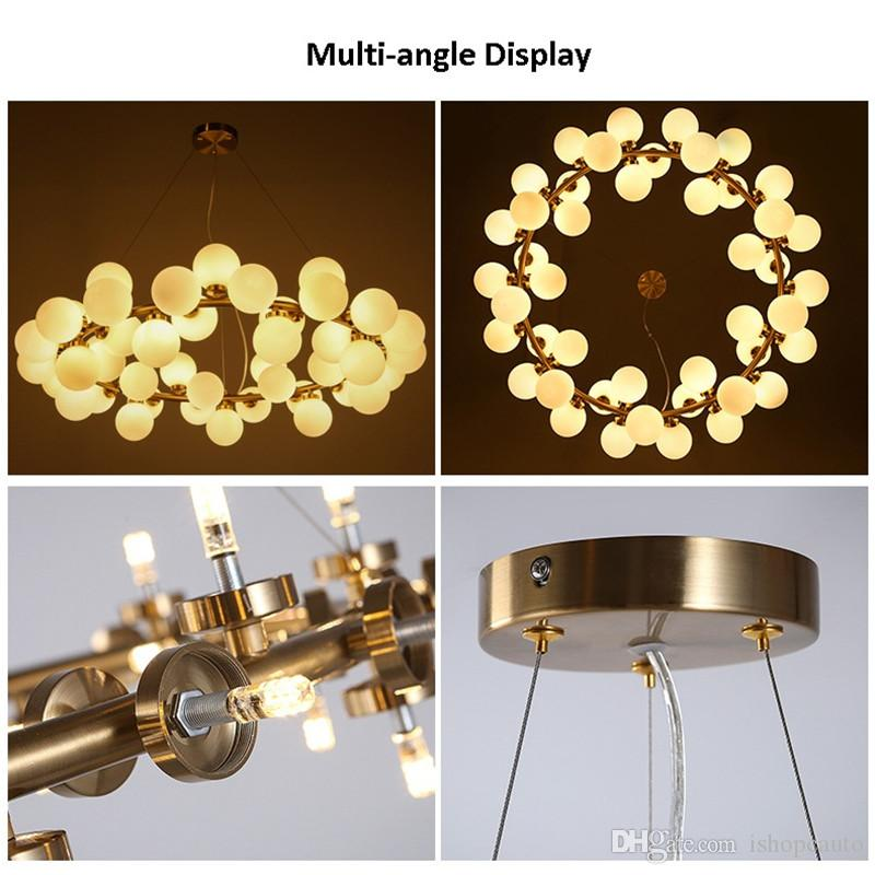 Nordic Magic Bean Pendant Lamp Creative Art Glass Ball Chandelier Living Room Bar Hotel Simple Meal Clothing Store Hanging Lamp