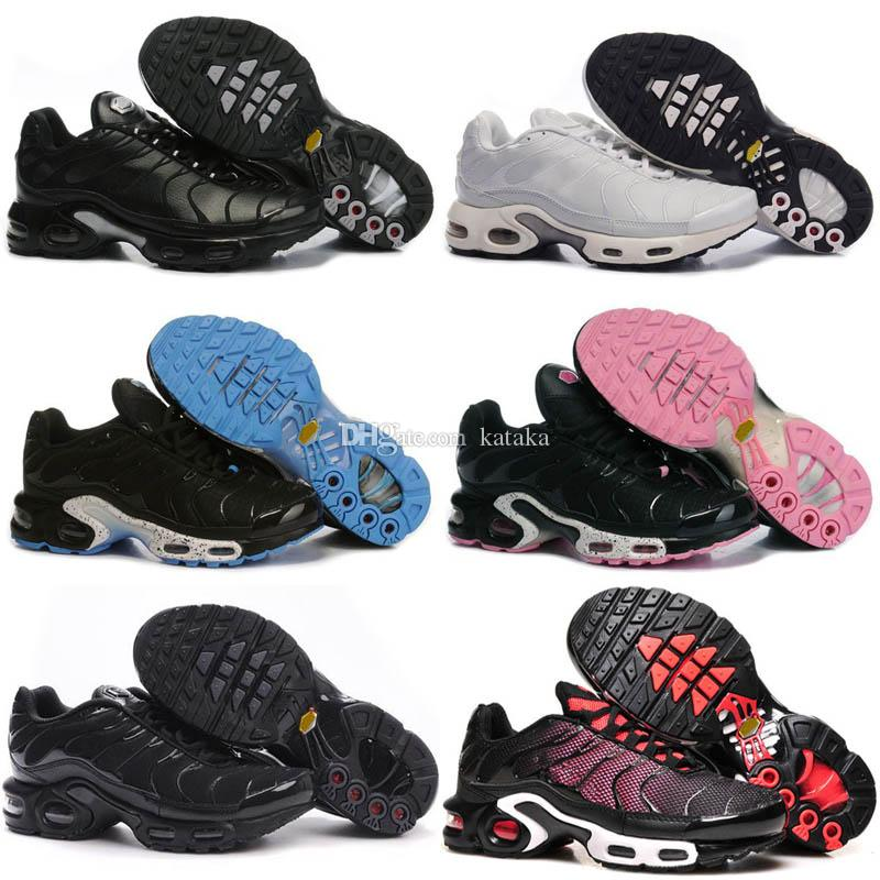 60b04c56b6 2018 Cheap Brand New Womens Tn Running Shoes Black White Women Sports Shoes  Pink Blue Woman Best Athletic Trainers Sneakers Tennis Shoes Men Sports  Shoes ...
