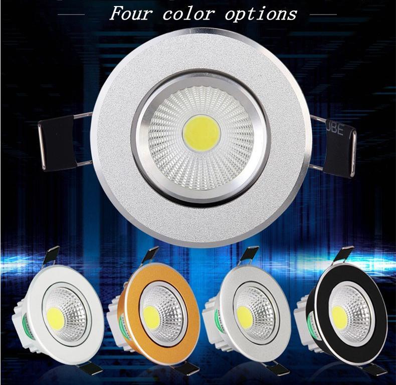 Neueste Dimmable führte Downlights 9W 12W 15W PFEILER führte hinunter helles vertieftes Deckenleuchte Silber / Weiß / Goldenes / Schwarzes Wechselstrom 85-265V + CER ROHS UL