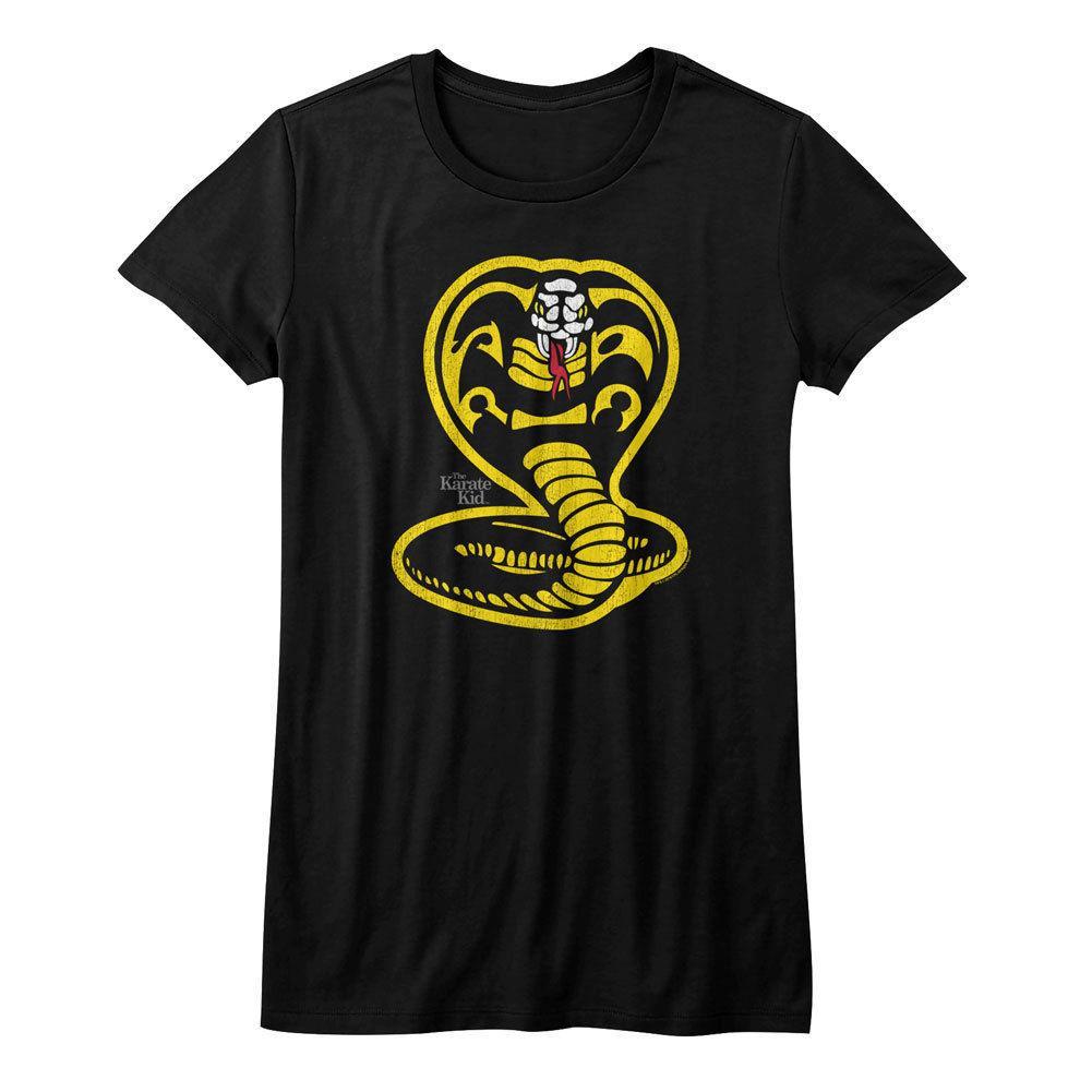 Karate Kid Movie Yellow Cobra Kai Cobra Womans Fitted T Shirt White