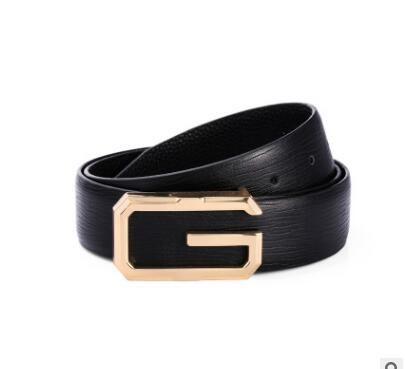Designer Men Business Belt Male Luxury Cow Genuine Leather Belts For Men Fashion Buckle Strap Ceinture Homme