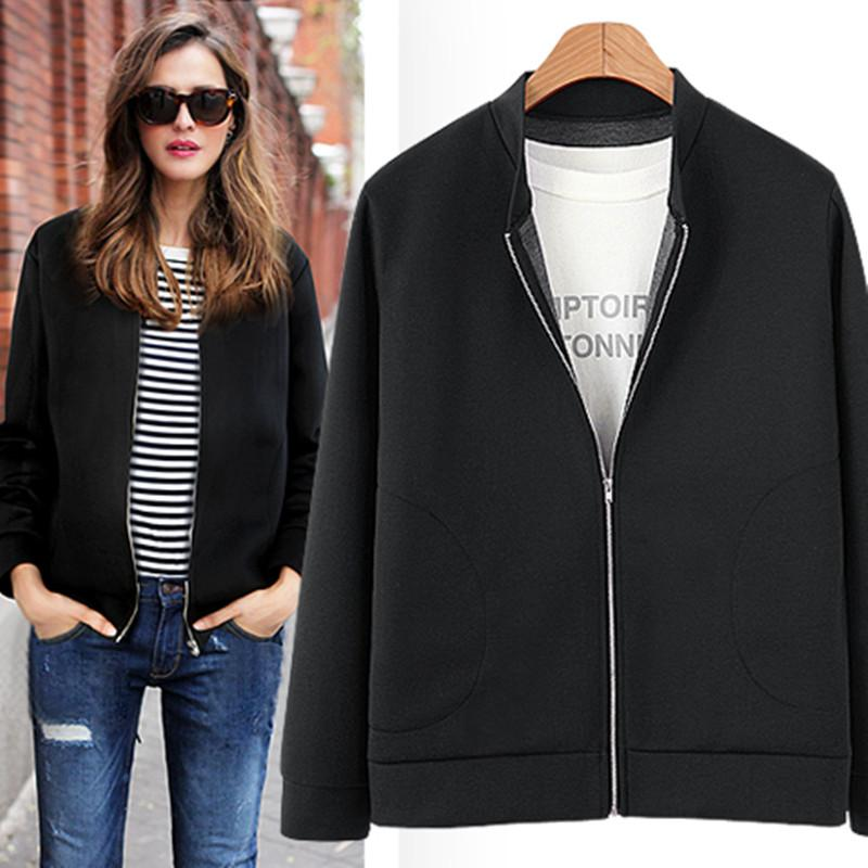9eccdaf62c2 Chaqueta Mujer 2018 Autumn Winter Bomber Jacket Women Long Sleeve Zipper  Cardigan Plus Size Loose Velvet Coat Veste Femme 4XL Womens Jacket Biker  Leather ...