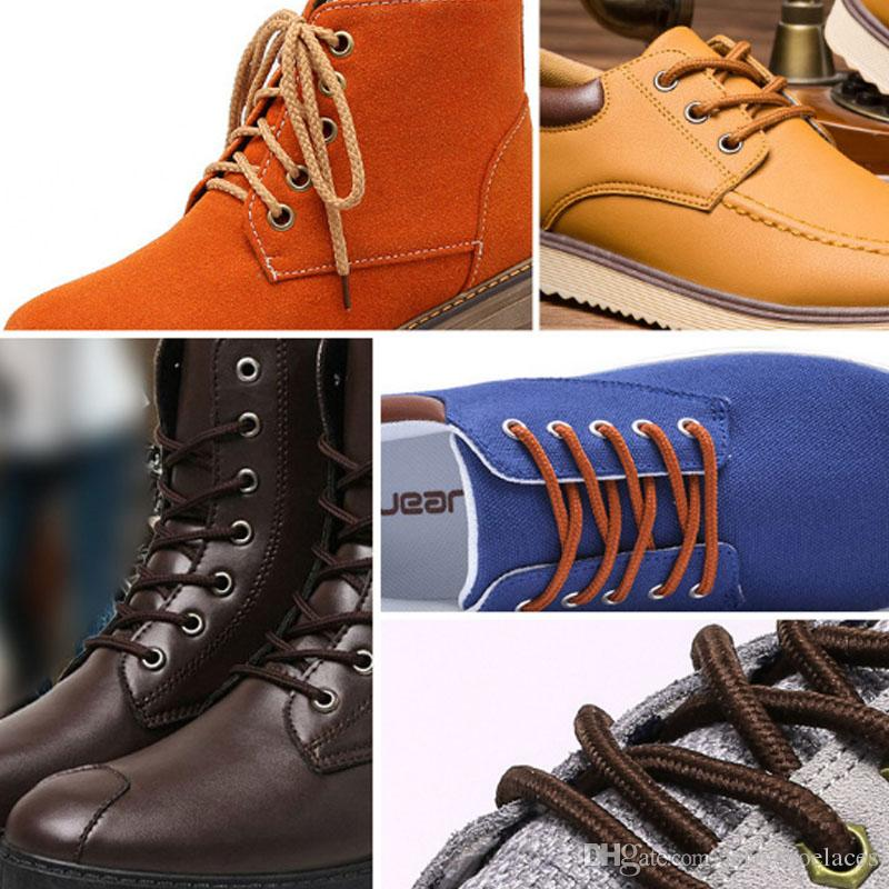 160cm/63inches Solid Round Shoelaces Unisex Thick Shoes Rope Shoestrings For Boots Casual Shoes High Quality
