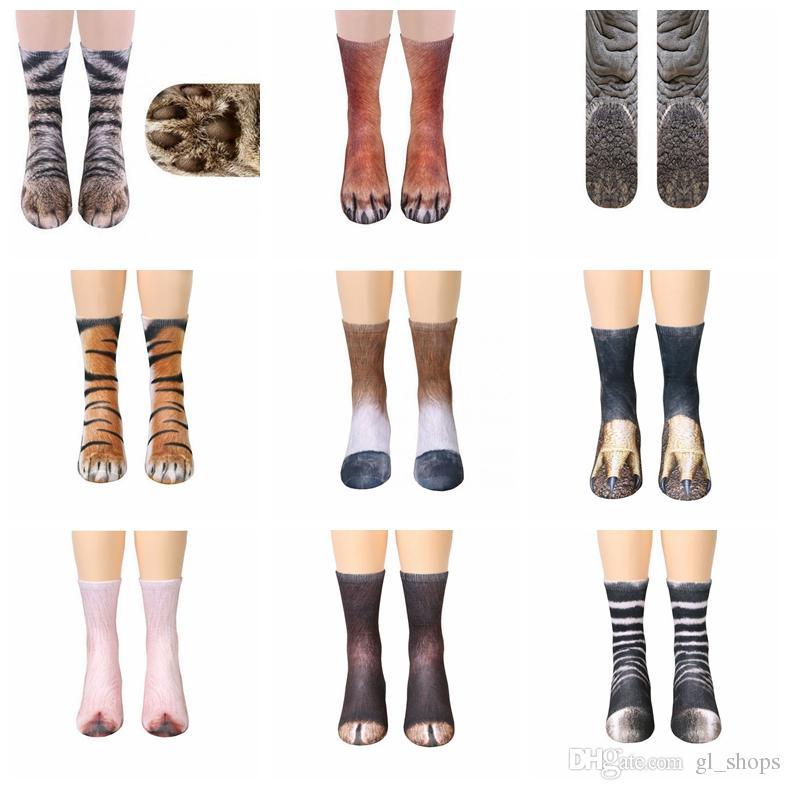 caff42bc0a1 High Elastic Adult Socks Unisex 3D Printed Animal Paw Crew Sock Big Kids  Leg Warmers Cotton Socks Sports Skateboard Hip Hop Stockings Canada 2019  From ...