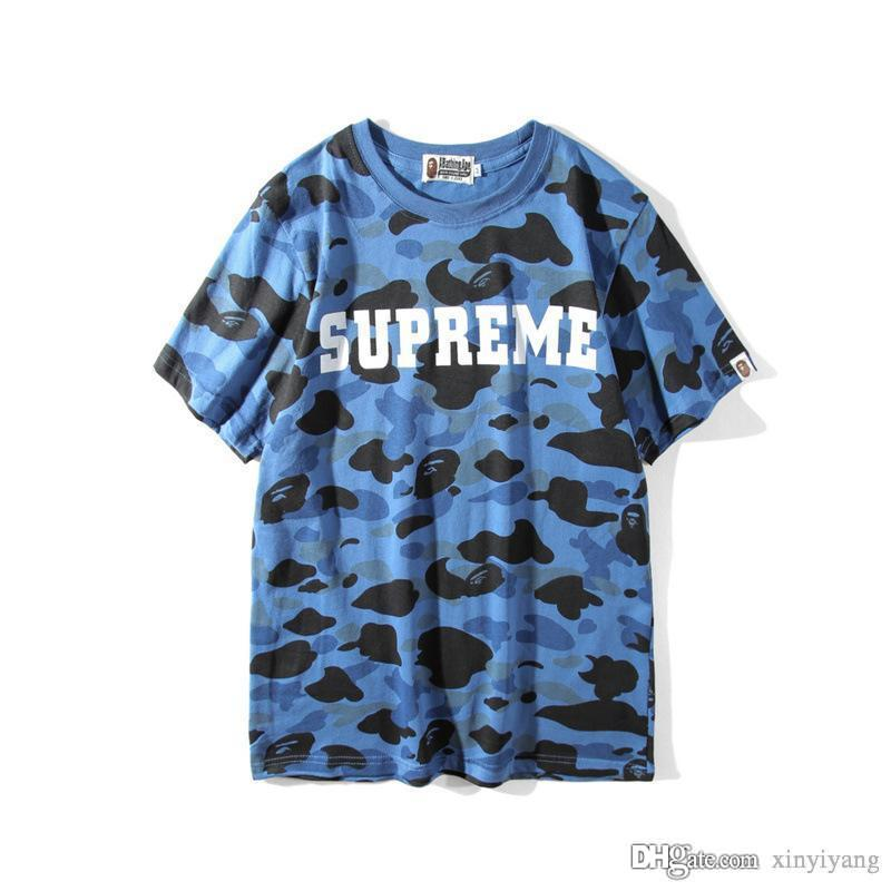 851db753 2018 New Camo T-shirts Men's Camouflage Tees Printing Breathable T-shirt  Shirts Fashion Brand Oversize Clothing Men's T-Shirts