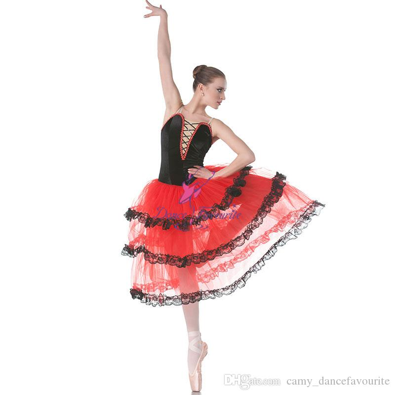 Les Ballet Robe Filles Rouge De Danse Acheter Pour Adultes Espagnole kZPOuTXi