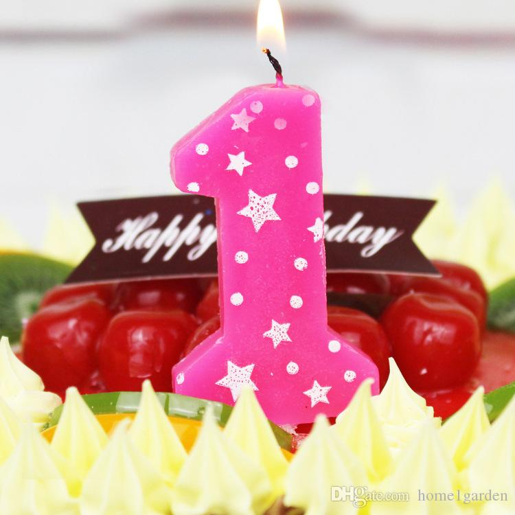Baby Blue Pink Birthday Numbers Candles Cake Decoration Candles Party for party Decoration Supplies