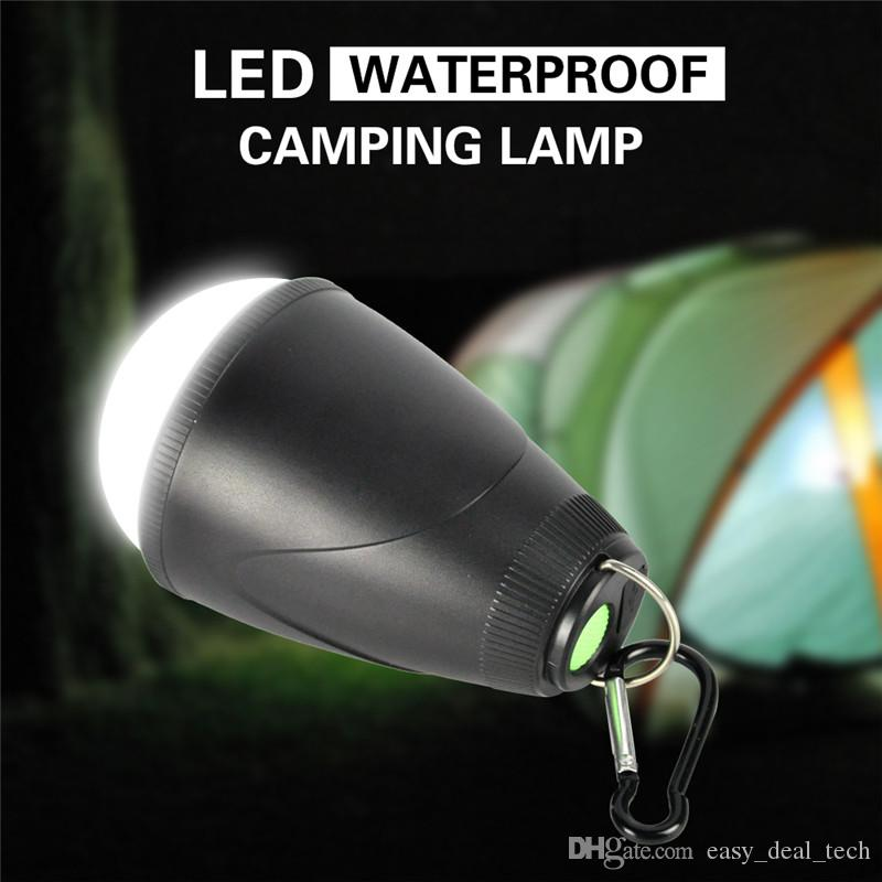 LED Remote Control Camping Tent Lantern Waterproof Rechargeable Hanging Portable Night Lamp Light Lanterns for Outdoor Hiking Q0437