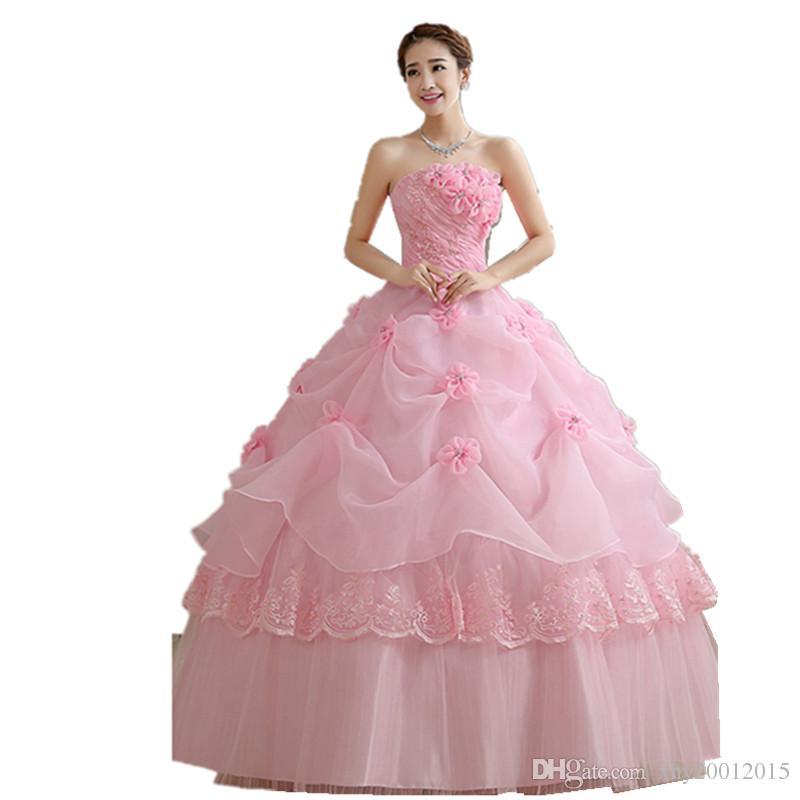 Vestidos De Quinceañera Rosa Vestidos De 15 Años Largo Sin Hombro ...