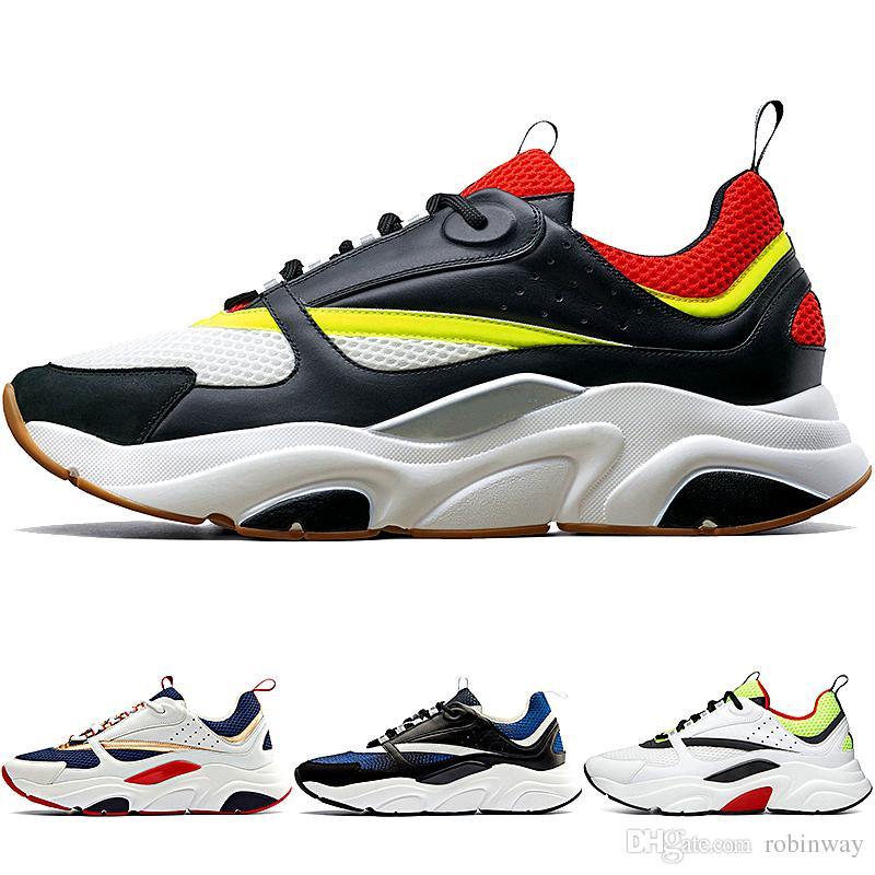 best service eeb7a 4d422 Acquista Nuovo Di Alta Qualità B22 Uomo Scarpe Da Ginnastica In Pelle Di  Vitello E Scarpe Da Corsa Moda Donna Sneakers Francese Designer Di Marca  Scarpe ...