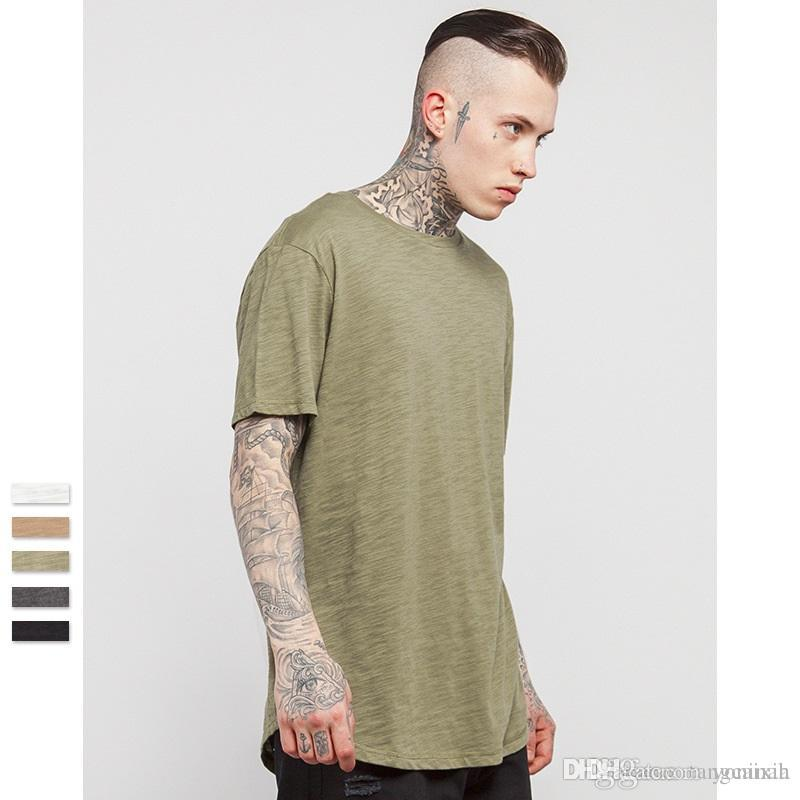 4f5b1cd6e56 Wholesale Summer New Style Men Solid Color Extended Curved Hem Plain T  Shirt Bamboo Cotton Top Tee Funny Tee T Shirt Buy From Yoninah, $30.14|  DHgate.Com
