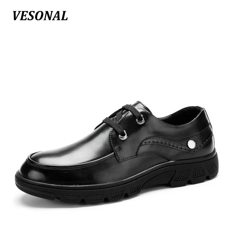 a4a34b4e846 VESONAL Platform Luxury Men Shoes Casual Oxford Genuine Leather Classic Male  Elegant Wedding Office Business Dress Formal Nude Shoes Womens Sandals From  ...