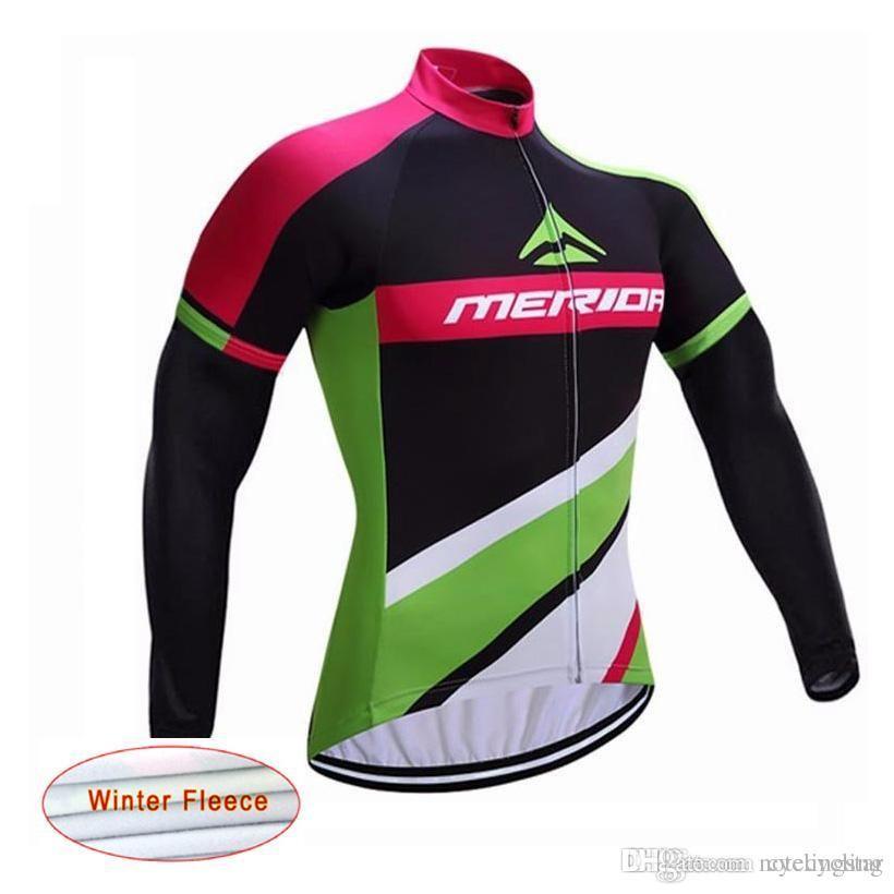 9e856baec 2017 Merida Winter Thermal Fleece Cycling Clothing Long Sleeve Men ...