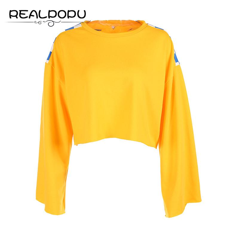 b6acd78429c0bf Realpopu Loose Casual Checkerboard Patchwork T Shirt Long Sleeve Crop Top  Tee Oversize Clothing Cotton Kawaii Cute T Shirt Women Best Designer T  Shirts ...