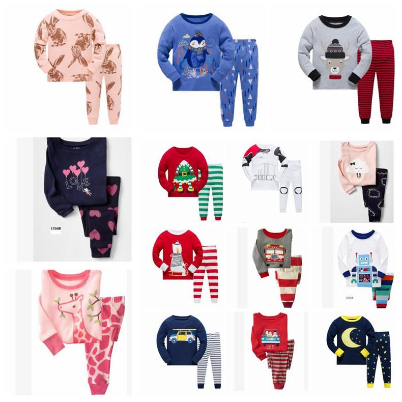 Boys Christmas Pajamas.Girls Boys Christmas Pajamas Set 20 Design Otton 2 Piece Set Baby Pajamas Christmas Princess Sleepwear Suit 2 7y Kka5961