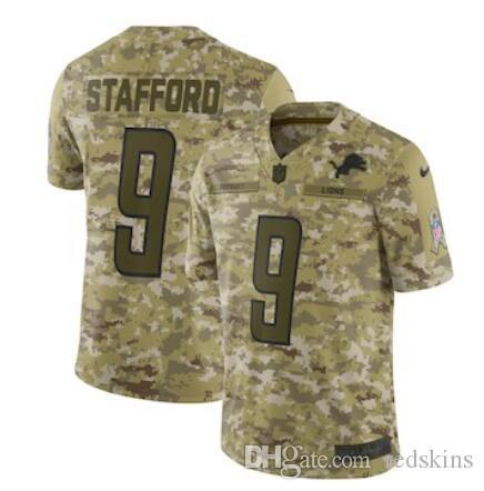 0498e56e7 Matthew Stafford Jersey Detroit Lions Barry Sanders Darius Slay Jr Camo  Salute Service Factory Custom American Football Jerseys Stitched Dhl Matthew  ...