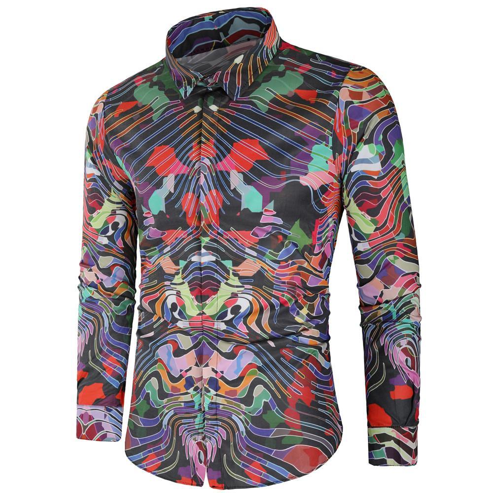 bbe2c4f4331a 2019 High Quality Shirt Male Summer 2018 Long Sleeve Fashion Men ...