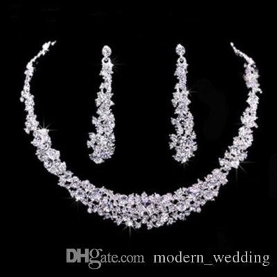 Wholesale Bridal Jewellery Sparkly Diamond Rhinestone Earrings