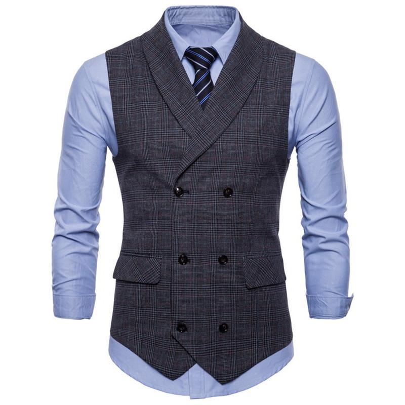 ad919db3985 New Sleeveless Waistcosts Mens Autumn Dress Vest Men s Business ...