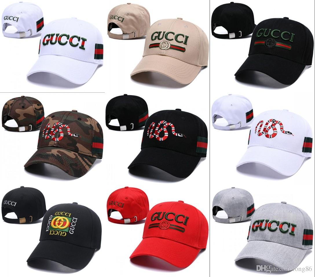 8fde8a40af2 2019 New Style Snake Embroidery Bone Curved Visor Casquette Baseball Cap  Gorras High Quality Dad Hats For Men Women Hip Hop Snapback Caps Custom  Baseball ...